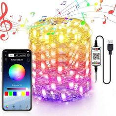 Luci stringa led di Natale personalizzate🔥myalleshop String Lights In The Bedroom, Led String Lights, Twinkle Lights, Light String, Christmas String Lights, Christmas Tree Decorations, Holiday Decor, Bluetooth, Ios App