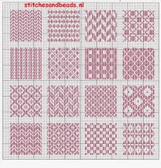 stitches and beads: randje 7 + 8 en een stoplapje Cross Stitch Embroidery, Hand Embroidery, Darning, Food Coloring, Pattern, Design, Clothes, Blackwork Patterns, Punto De Cruz
