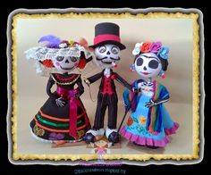 creaciones D Moni: fofucha catrina Frida kalho pareja catrin y catrina fomi 3D