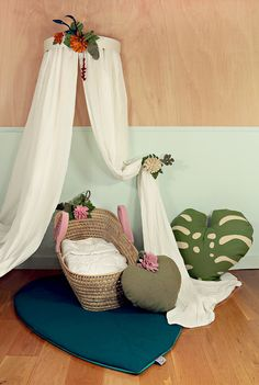 baby heaven with wawomb nursery decor Tropical Nursery Decor, Modern Nursery Decor, Hanging Chair, Baby Room, Baby Kids, Toddler Bed, Kids Room, Room Decor, Furniture