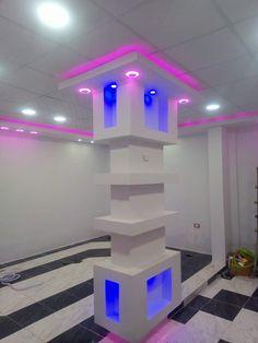Pillar Design, Home Stairs Design, Cafe Wall, Backyard Pool Designs, House Stairs, Living Room Lighting, Ceiling Design, Modern Bathroom, Anna