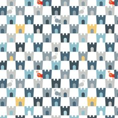 Jack's Castles fabric by spellstone on Spoonflower - custom fabric