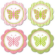 Free printable butterfly embellishments or make into tags Más Printable Labels, Printable Paper, Party Printables, Free Printables, Printable Butterfly, Scrapbook Paper, Scrapbooking, Butterfly Birthday Party, Bottle Cap Images
