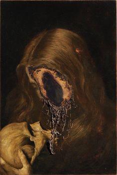 Between life and death / Nicola Samorì Arte Horror, Horror Art, Rennaissance Art, Photowall Ideas, Arte Sketchbook, Macabre Art, Creepy Art, Old Art, Surreal Art