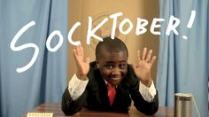 Hello Internet! It's #SOCKTOBER! Love, Kid President.   Let's help others and make this an awersome world!