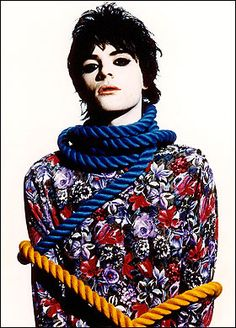 Man with make up it takes courage and a steady hand. Richey Ewards from Manic Street Preachers.