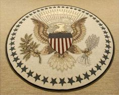 Great Seal Of The United States Wool Rug Oval Office