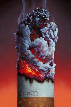 Casey Weldon Shows New Body of Work in 'Latent Content' Smoke Wallpaper, Skull Wallpaper, Galaxy Wallpaper, Cartoon Wallpaper, Smoke Pictures, Cool Pictures, Fun Galaxy, 3d Foto, Surreal Artwork