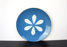 Vintage Cathrineholm Large Lotus Plate, Teal, Turquoise Blue Enameled Steel, Serving Platter 1960s Norway Grete Prytz Kittelson 180063 by TheLionsDenStudio on Etsy