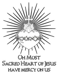 Well would you look at this! It& the beginning of June not the end and I have a beautiful Sacred Heart of Jesus coloring page to share with. Catholic Crafts, Catholic Kids, Coeur Tattoo, Jesus Coloring Pages, Jesus Drawings, Sacred Heart Tattoos, Christian Symbols, Church Banners, Heart Of Jesus