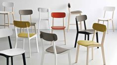 Cream Chair by Calligaris Contemporary Furniture Stores, Contemporary Dining Chairs, Dining Room Furniture, Home Furniture, Furniture Design, Furniture Showroom, Cool Chairs, Table And Chairs, Cream Dining Chairs
