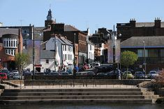 Dumfries, Scotland across the river Nith