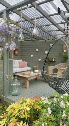 Most Stylish and Coziest Backyard Patio Ideas To Copy Cozy backyard, Backyard patio, Backyard patio designs, Patio deck designs, … Backyard Patio Designs, Pergola Designs, Pergola Patio, Modern Pergola, Pergola Kits, Patio Privacy, Patio Stone, Flagstone Patio, Concrete Patio