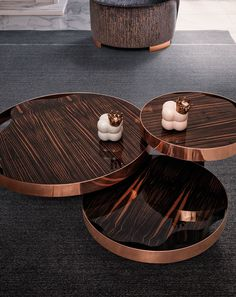 Triumph Coffee Table handcrafted with three copper and wood arches Ebony Makassar. Dinning Chairs, Dining Tables, Cofee Tables, Coffee Table Next, Wood Arch, Italian Marble, Center Table, Grey And Gold, French Doors