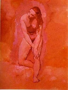 Pablo Picasso,Nu: étude pour le harem (cleveland museum of art), 1906, Rose Period