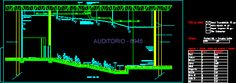 corte fachada detalles constructivos de un auditorio - Buscar con Google