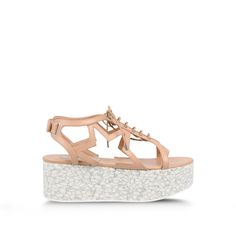 Love these shoes by STELLA MCCARTNEY Powder Rose Lucy Star Flatforms - $650