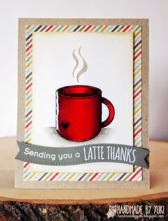 Handmade by Yuki: Latte Thank You Card featuring SSS