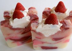 Strawberries Shortcake / Soap/ Cold Process Soap / by RoyaltySoaps, $6.75