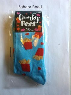 Girls Funny Hot Chip Cozy Socks Quirky Feet