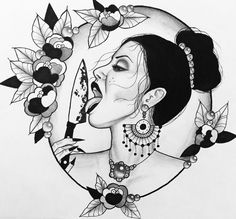 Geisha Drawing, Mask Drawing, Tattoo Sketches, Tattoo Drawings, Tattoos, Blackwork, Witch Tattoo, Traditional Tattoo Design, Rooster Art
