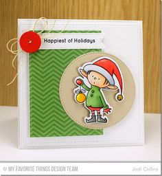 Santa's Elves, Santa's Elves Die-namics, Stitched Circle STAX Die-namics, Stitched Fishtail Flags STAX Die-namics, Stitched Rectangle STAX Die-namics, Vintage Buttons Die-namics - Jodi Collins  #mftstamps