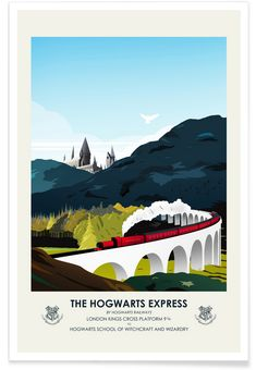Hogwarts Express - CMA. Harry Potter Movie Poster. Available as an art print at JUNIQE.