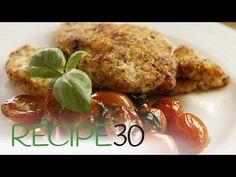 Italian Chicken Schnitzel - Easy Meals with Video Recipes by Chef Joel Mielle - Chicken Pork Recipe, Chicken Recipes, Italian Dishes, Italian Recipes, Italian Foods, Pork Recipes, Cooking Recipes, Easy Recipes, Recipies