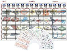 2015 Fantasy Football Draft Board Kit 5' x 3' with by Funtrades