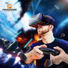 Pansonite Vr Headset with Remote Controller[New Version], Glasses Virtual Reality Headset for VR Games & Movies, Eye Care System for iPhone and Android Smartphones Vr Games, 3d Glasses, Virtual Reality Headset, Vr Headset, Computer Accessories, Remote, Smartphone, Android, Iphone
