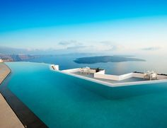 Infinity Pool at the Grace Hotel in Santorini. We could definitely spend infinity in that pool