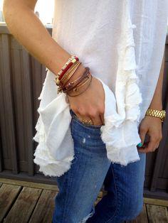 burgundy and gold bracelets combo
