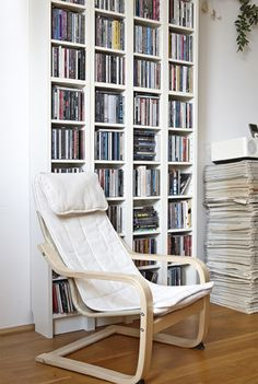 Give kids a cosy corner for reading and relaxing - in Austria, Lilly's children love their mini POÄNG   #IKEAIDEAS