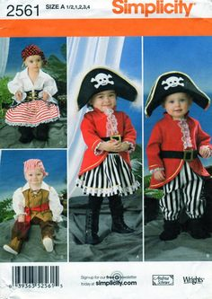 PIRATE Costume, Sewing Pattern, Simplicity 2561, Halloween Costume, Buccaneer…