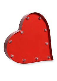 decorative led red heart battery operated marquee sign order home collection httpwww