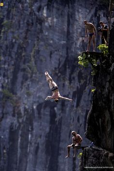 Red Bull Cliff Diving World Series on October 21, 2013 at Phi Phi Island, Thailand. (Photo by Dean Treml/Red Bull via Getty Images)