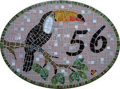 {Estúdio Joe e o Romio} mosaicos: Modelos numerais - 30x40cm Oval