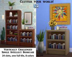 The Sims 4 | orangemittens Single Intellect Bookcase with Slots | buy mode new objects display