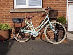 Victoria Pendleton Bike, Old Bikes, Vintage Bikes, Bicycles, Mint Green, Saddle Bags, Christmas Gifts, Basket, Closet