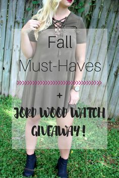 Fall fashion must-haves and JORD Watch GIVEAWAY!!!