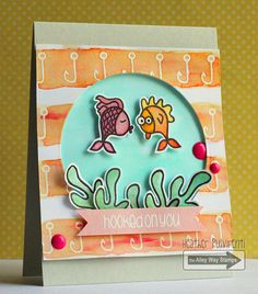 Hooked On You by Heather P. | The Alley Way Stamps, TAWS, cards, tags, clear stamps, CAS, #TAWS, Gill-Friend