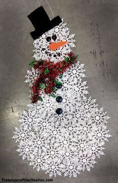 Dollar Store Snowflake Snowman is part of Simple Snowman crafts Dollar Store Snowflake Snowman Materials Dollar store snowflake ornaments about 45 boxes (up to 30 snowflakes used depends on the size - Homemade Christmas, Christmas Art, Christmas Projects, Winter Christmas, Christmas Wreaths, Christmas Ornaments, Christmas Ideas, Snowflake Ornaments, Snowman Ornaments