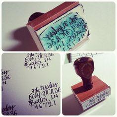 return address stamps $22