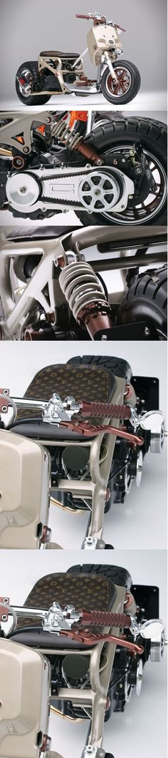 Scooter Honda Ruckus LV #LV   #louisvuitton