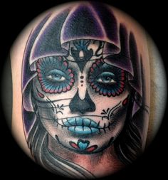 Day of the Dead Girl Tattoo by Phil Colvin