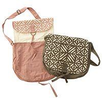 APPLIQUE MESSENGER BAGS|UncommonGoods $49.00