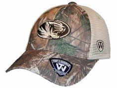 Missouri Tigers TOW Camo Mesh Prey Adjustable Snapback Hat Cap