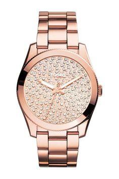 Rose Gold Boyfriend Pave Dial Bracelet Watch ❤︎