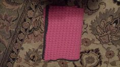 Check out this item in my Etsy shop https://www.etsy.com/listing/226896873/pink-crochet-baby-blanket-with-grey
