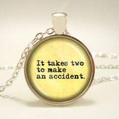 Great Gatsby Quote It Takes Two to Make an by RosiesPendants, $12.95